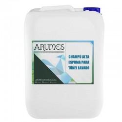 Champú alta espuma túneles lavado Arumes, envase 5 litros
