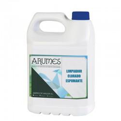 Limpiador clorado espumante para múltiples superficies