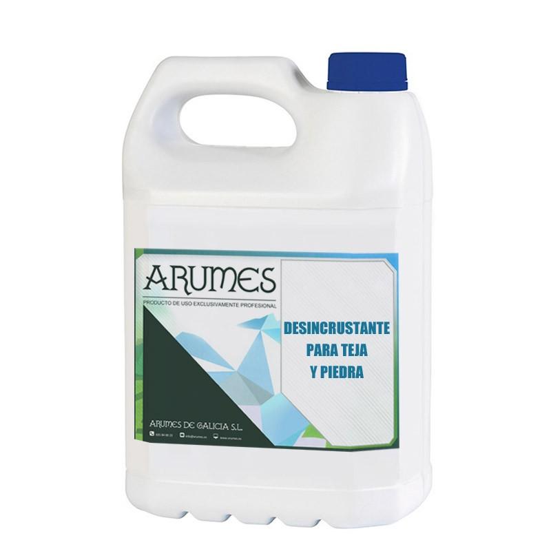 Desincrustante para limpiar superficies de piedra y tejas de Arumes